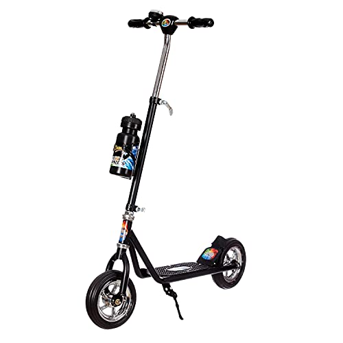 Dash Power Ranger 2 Wheel Scooter for Kids with Sipper, Bell, Stand and Adjustable Height Upto 12 Years Kids (Capacity 60 kg, Black)