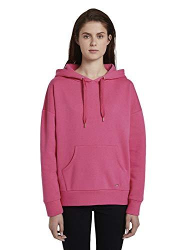 TOM TAILOR Denim Strick & Sweatshirts Hoodie mit Kapuzen-Print Bright Flashy pink, M