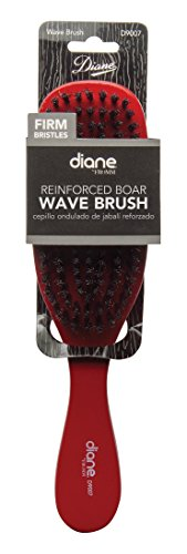 Diane Wave Firm Brush (reinforced Boar) #9007 Red, Boar bristles, reinforced bristles, detangles your hair, short hair, thick hair, long hair, straight hair, wavy hair, unisex, men and women, adults and kids, detangler, pulls out the knots in your hair