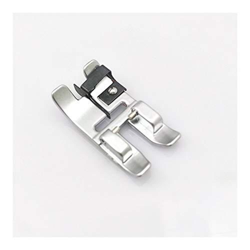 ZHOUZHONGLAN Práctico Broche de presión en Edge-Participar Zanja del pie Compatible with máquinas con pie móvil Adicional (Color : Silver)