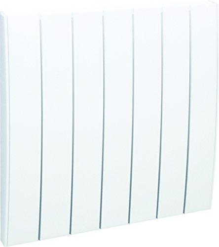 AIRELEC AIRA692795 - Radiateur à inertie sèche en Fonte - Gamme Fever - 1500 Watts - Blanc - Affichage digital