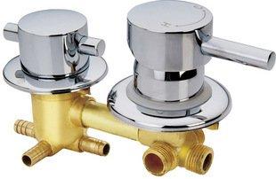 Retro Deluxe Faucetinging F/S Koper douchekamer mengen waarde, 2 manier water inlaat douchecabine 2/3/4/5 manier water uit douche kamer kraan accessoires