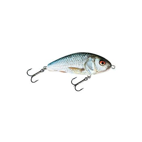 Salmo Fatso 10cm 48g Floating - Jerkbait Wobbler zum Hechtangeln, Kunstköder zum Spinnfischen, Hechtköder, Spinnköder, Farben:Real Dace