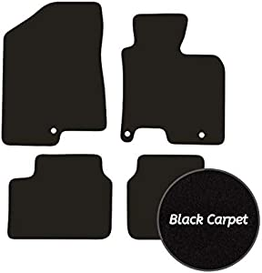 Premier Products Fully Tailored Black Carpet Car Mats for Ceed  2012-2018  Round Fixing