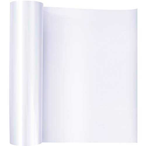 Papel de Transferencia, Rollo de Vinilo Transferencia de Calor para Camisetas Bolso Sombrero Pegatinas Carteles Blanco 30.5cm x 100cm