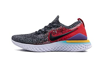 Nike Men s Epic React Flyknit 2 Running Shoes Black/Red 12