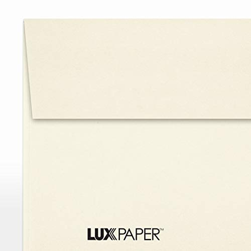 LUX Paper Square Invitation Envelopes for 6 1/4 x 6 1/4 Cards in 70 lb. Natural, Printable Envelopes for Invitations, with Peel & Press Seal, 50 Pack, Envelope Size 6 1/2 x 6 1/2 (Off-White) Photo #3