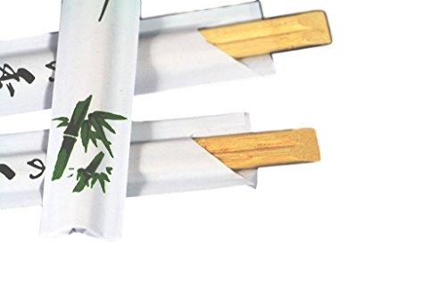 Pak van 15 paar) Wegwerp Bamboe Houten eetstokjes Individueel Verpakt