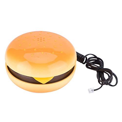 Teléfono con cable, novedad, teléfono de hamburguesa emulado, teléfono fijo, teléfono fijo, decoración del hogar, con muti-función, como marcación por frecuencia de voz, flash,remarcación del último