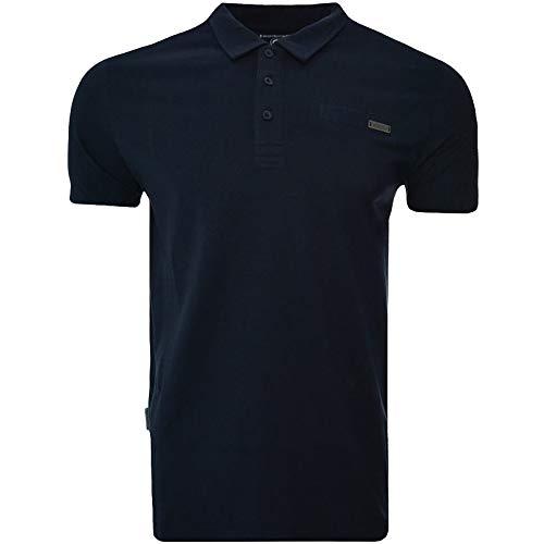 Lambretta Herren Poloshirt aus Metall - blau - Medium