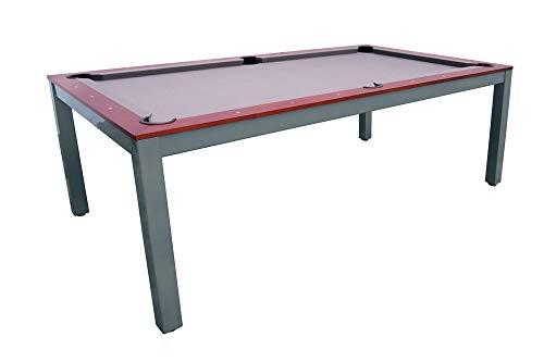 Dybior Billardtisch, Pool, Verona, 7 ft. (Fuß), grau, Standard-Tuch