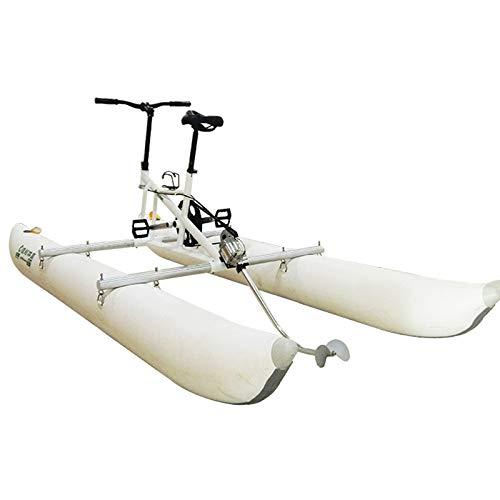 Xgxyklo Biciclette Acquatiche, Kayak Gonfiabile Bikeboat per Lago, Sport Acquatici da Turismo Kayak Pedalò Mare Barca per La Pesca Sportiva Divertente