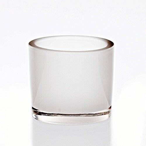 CRISTALICA Bougeoirs Tea Light Couleur 8 Cm Verre Blanc