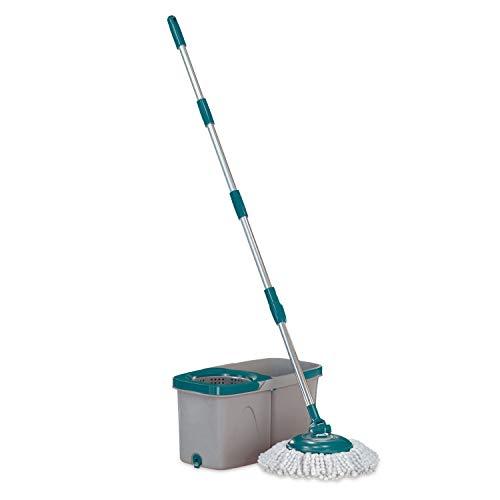 Mop Giratório Duas Águas, Balde 3 litros com cesto Inox , MOP7504, Flash Limp
