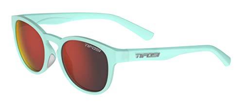 Tifosi Svago Sunglasses (Satin Crystal Teal, Smoke Red)