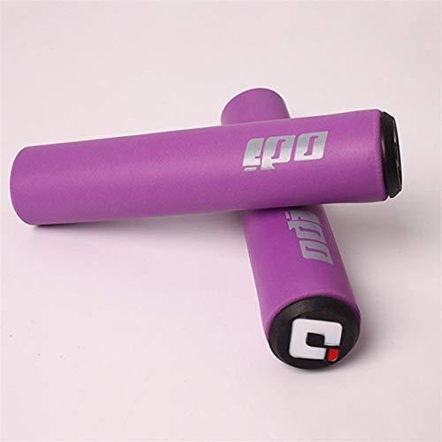DXLANS Manopole MTB 2PCS ODI Bicicletta-Manopole MTB Prese di Manubrio della Bici di Montagna Morbido Silicone Handle Bar Grip Accessori Biciclette (Color : Purple 1 Pair)