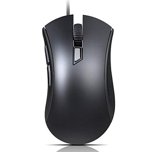 XIAOQIAO Trådbunden mus, 4000DPI, 4-växlad justerbar DPI-knapp, 5-knappars programmerbar. Lämplig för stationära datorer, bärbara datorer, allt-i-ett-datorer (färg: svart)