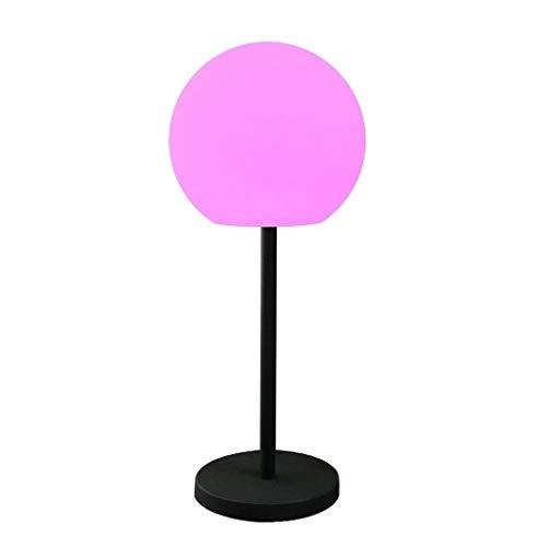 Staande verlichting voor binnen en buiten, waterdichte oplaadbare LED lichtgevende bol lamp met afstandsbediening, 4 lichteffecten, voor zwembad en feestverlichting