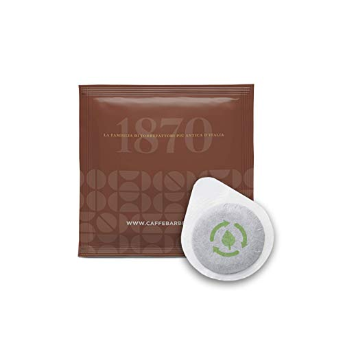 Caffè Barbera dal 1870 - Cápsulas ESE compostables -Prima Generazione Espresso Ristretto - 100 Cápsulas