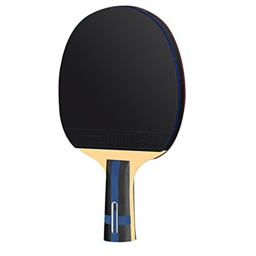 LINGOSHUN Juego de Raquetas de Ping Pong Profesional,Raquetas de Tenis de Mesa de Alto Rendimiento para Jugadores Avanzados y Competiciones / 1 Pack/Short handle