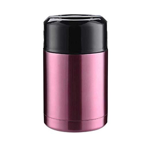 XXSHN Gachas de Avena Bento de Acero Inoxidable de Doble Pared de 800/1000 ml para recipientes de Sopa de Alimentos Frascos de vacío de Gran Capacidad Thermocup (Color: Gold, Tamaño: 800ml)