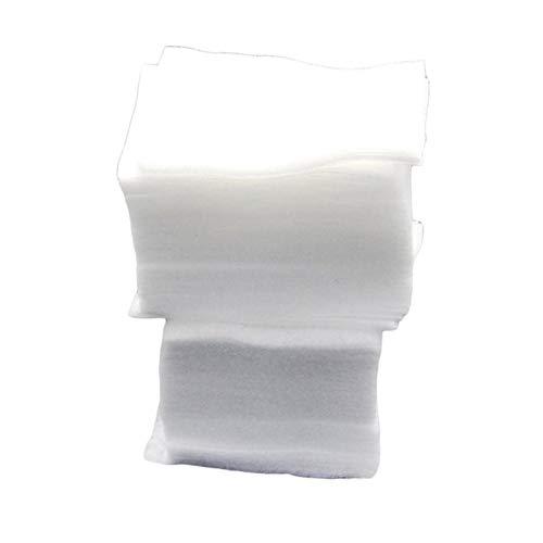 200 pelusa toallitas para uñas suaves toallitas para arte de uñas papel limpio almohadillas de algodón puro no tejido removedor de esmalte de uñas maquillaje arte de uñas - blanco
