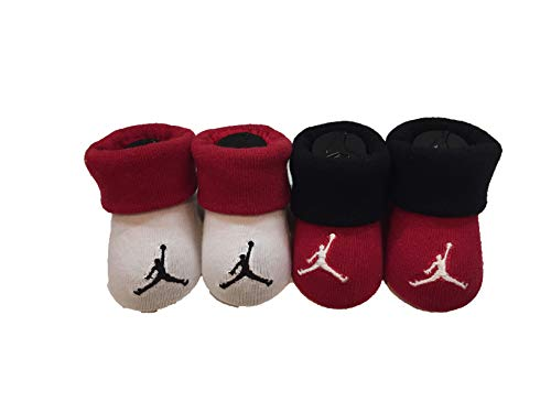 Nike Jordan Infant Cement Cuff Booties 0-6 Months
