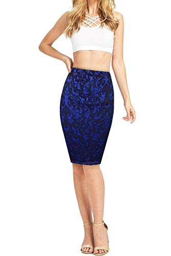 Hybrid & Company Women's Versatile Maxi Skirt Convertible Dress 16467 3 RoyalBlack XL