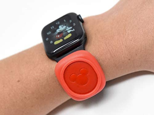 Luke3DP Watch Adapter Compatible with Disney Magic Band Traditional Watch Red Smooth product image