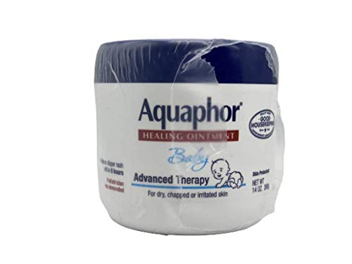 Aquaphor Baby Healing Ointment Diaper Rash and Dry Skin Protectant  14 Fl Oz Jar