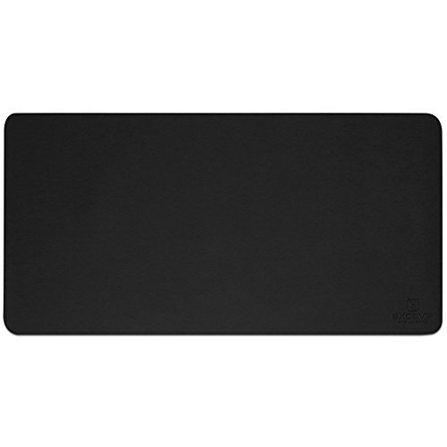 excovip - Ratón Mat Impermeable, para Computadoras,tapete Mouse Pad Gamer,PC y Laptops. Negro, 800 × 400 mm