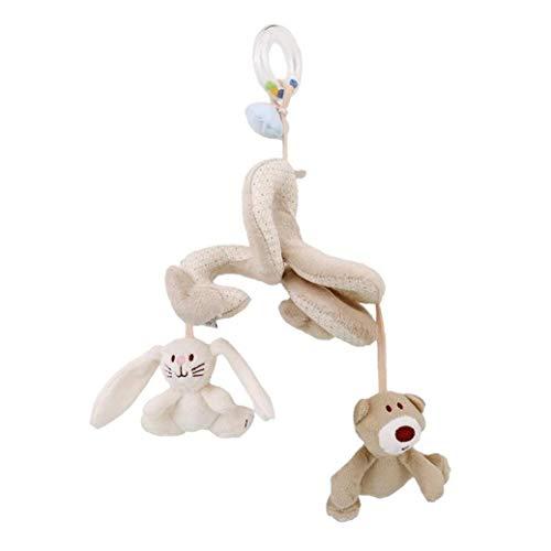 Berrywho Infantil Espiral Wrap Around Actividad del bebé de Cuna Peluches Cama Conejo Cochecito Oso traqueteos Colgantes