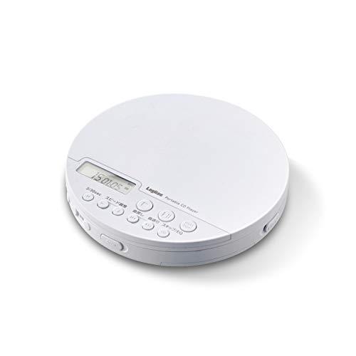 ロジテック 語学学習向け ポータブルCDプレーヤー リモコン付属 有線&Bluetooth対応 ホワイト LCP-PAP02BWH
