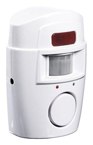 EASYmaxx Bewegungsmelder mit Alarmsignal 6V mit Fernbedienungen 2er-Set, weiß