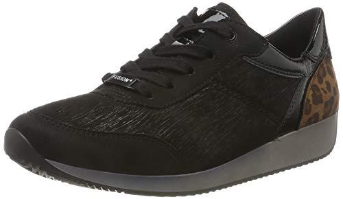 ARA Women's Sneaker, Black (Schwarz,Moro 71), 9