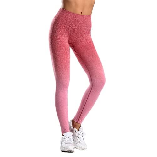 QTJY Pantalones de Yoga para Gimnasio para Mujer, Pantalones elásticos de Cintura Alta para Levantamiento de Pesas, Pantalones para Correr al Aire Libre, Pantalones para Correr E L