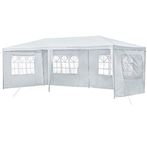 Yaheetech 10' x 20' Large Party Tent for Outdoor Wedding Event Dancing Party Gazebo Canopy with 4Pcs Removable Sidewalls Pavilion Gazebo Shelter, Heavy Duty, White