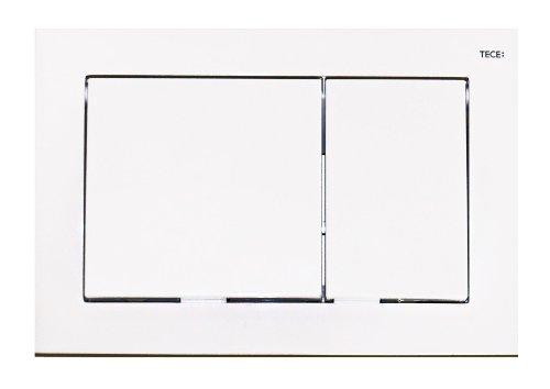 TECE WC- Betätigungsplatte base, Zweimengentechnik, 1 Stück, weiß, 9.240.700