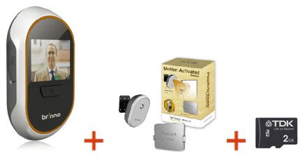 Brinno PHV133012 Bundle (Digital PeepHole Viewer   Motion Sensor   SD Card)