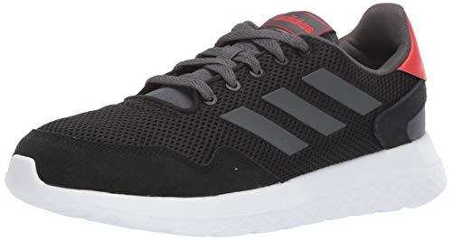adidas Men's Archivo Sneaker, Black/Grey/Active Red, 10 M US