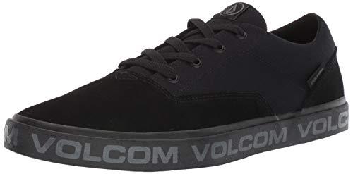 Volcom Chaussures de Skate Draw Lo en Daim pour Homme - Gris - Noir, 45 EU