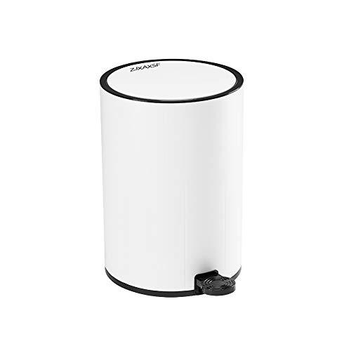 ZJXAXSF Trash can Bathroom Trash can Kitchen Trash can Bedroom Trash can White Plastic Small Trash can
