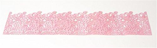 Tortenspitzenband rosa modern, bereits fertig gebacken