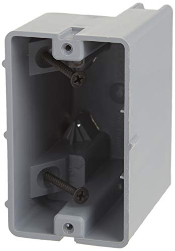 Madison Electric Products MSB1G One Gang Device Box with Depth Adjustable, Heavy Duty 42lb, Gray