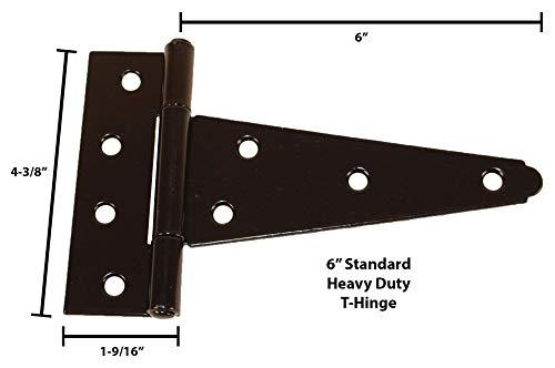 National Hardware N109-041 SPB841 Ornamental T Hinge in Black