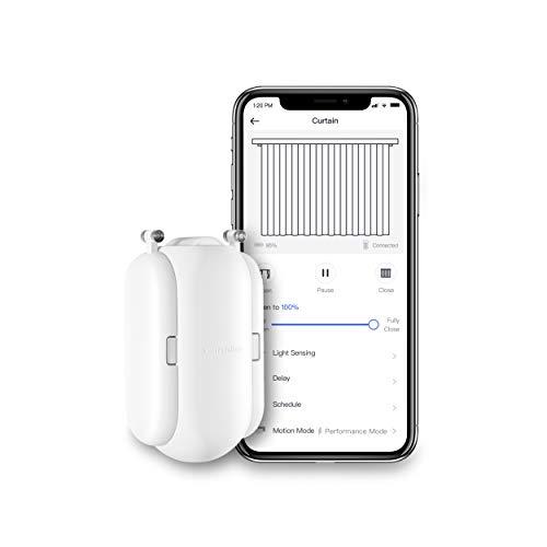 SwitchBot スイッチボット カーテン スマートホーム アレクサ - Google Home IFTTT イフト Siri LINE Clovaに対応 自動開閉 遠隔操作 取付簡単 ソーラーパネルで充電可能 U型/角型レールに対応 8Kgまで対応