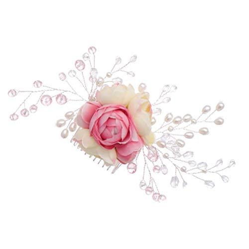 Lurrose Haaraccessoire voor bruiden en bruidsmeisjes, met kraaltjes en parels