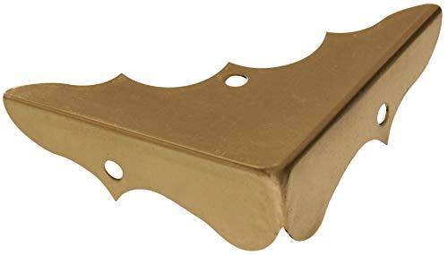 Hillman Hardware Essentials 853012 Decorative Corner Braces Bright Brass 5/8' 4-Pack