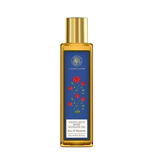 Forest Essentials Extra Rich Almond Body Massage Oil Rose & Mandarin - 200ml by Forest Essentials