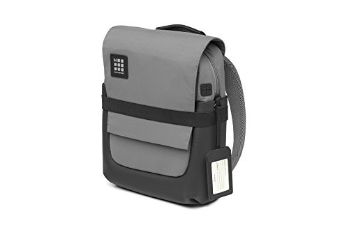 Moleskine ID Collection Zaino da Lavoro Professionale Waterproof Device Backpack per Tablet, Laptop, PC, Notebook e iPad Fino a 15'', Dimensioni 27 x 11 x 36 cm, Colore Grigio Ardesia